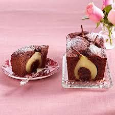 schokoladige birnen kaffee kuchen
