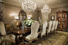 Long Crystal Chandelier Dining Room Traditional With Area Rug Red Ideas Chandeliers