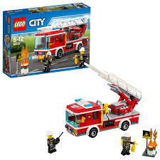 LEGO City Fire Fire Ladder Truck 60107 - Walmart.com