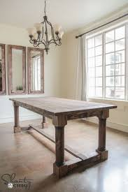 Rustic Farmhouse Dining Room Table For Enchanting Best 25 Tables Ideas On Pinterest