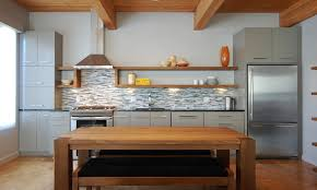 Stainless Steel And Gray One Walled Kitchen