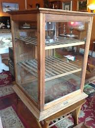 ANTIQUE SCHWANBECK BROS WOOD GLASS PIE SAFE BAKERY COOLING RACK DISPLAY CABINET In Antiques Furniture