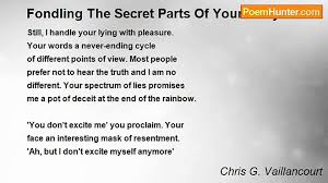 Chris G Vaillancourt Fondling The Secret Parts Of Your Body
