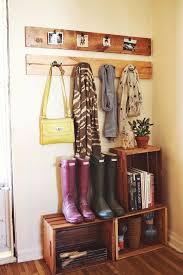 Wooden Crates Milk Best 25 Entryway Closet Ideas On Pinterest