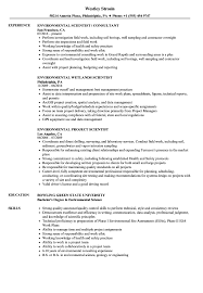 Download Scientist Environmental Resume Sample As Image File