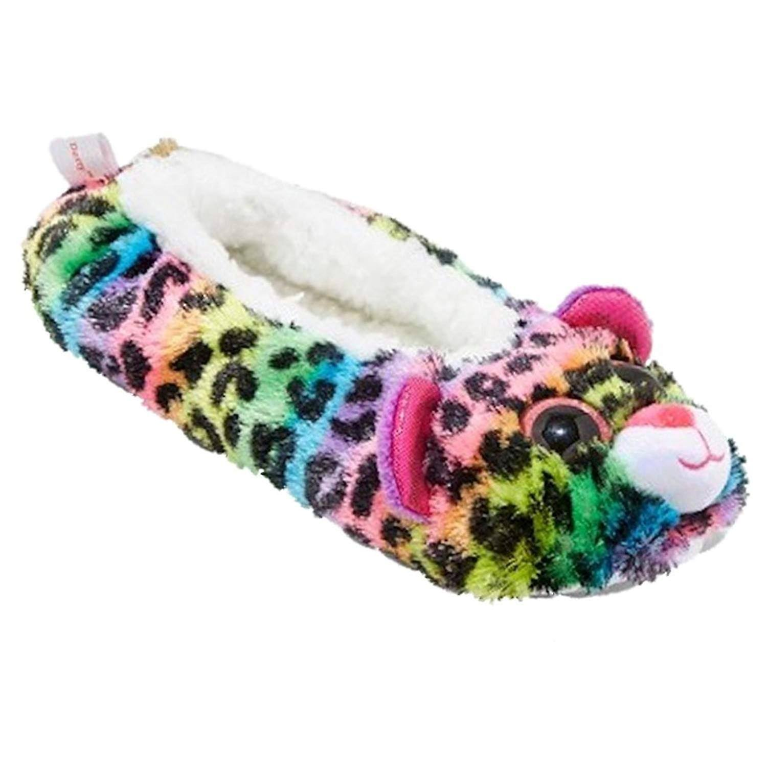 TY Beanie Boo Slippers - Rainbow The Poodle, Large