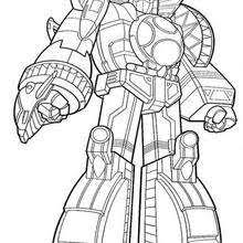 POWER RANGERS Coloring Pages Giant Robot