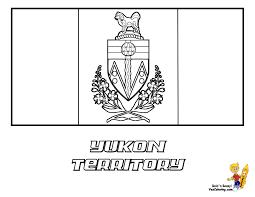 Striking Flag Printables Of Canada Alberta Yukon For Canadian Territory Nunavut Coloring Page