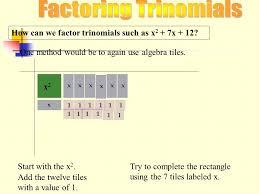 factoring trinomials ppt