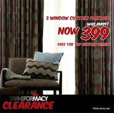 Macy Curtains For Living Room Malaysia by Macy Transformacy Clearance Sale Wisma Minlon Home