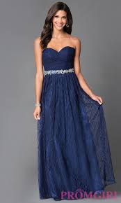 long lace strapless sweetheart dress promgirl