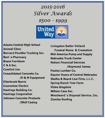100 Livingston Trucking 201516SilverAwards United Way Of South Central Nebraska
