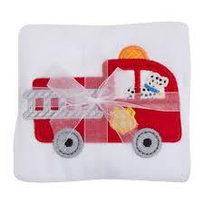 100 Fire Truck Applique 3 Marthas Truck D Baby Boys Burp Cloth MadisonDrake