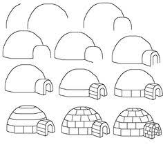 How To Draw A Cartoon Igloo Easy Free Step By Drawing Tutorial For Kids