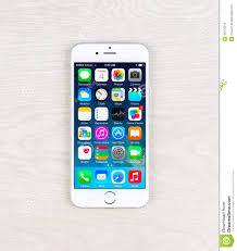 New IOS 8 1 Homescreen An IPhone 6 Display Editorial Stock