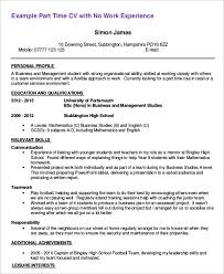 First Time Job CV Example Icoverorguk