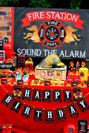 100 Fire Truck Birthday Party Invitations Fighter Badge Man
