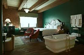 Dark Green Bedroom At Soho House New York On HOUSE