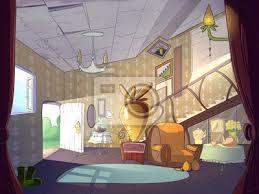 fototapete kaninchen haus wohnzimmer innenraum märchen karikatur stilvolle