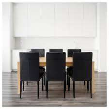Ikea Vilmar Chair Assembly by Henriksdal Bjursta Table And 6 Chairs Oak Veneer Glose Black 175