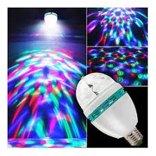 3w colorful rotating rgb led stage light bulb disco