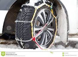 Snow Chains Stock Photo. Image Of Country, Automobile - 64182084