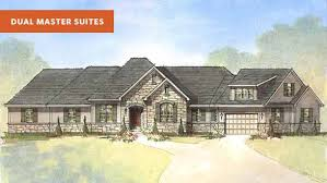 beverly ii b dual master suite house plan schumacher homes