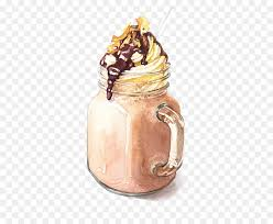 Iced Coffee Watercolor Painting Drawing Illustration