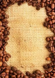 Coffee Border Stock Photo