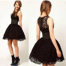 elegant women black party dresses lace women dress wedding prom