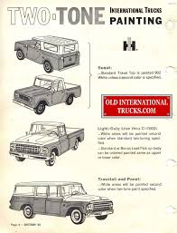 1963 1964 Standard Colors B. Color Charts • Old International Truck ...