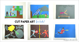 Easy Art Project For Kids Create Artwork Using Cut Paper Shapes
