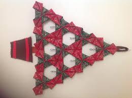 Crocheted Shopping Bag Folded Fabric Christmas Tree