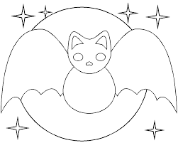 Bat Coloring Page In