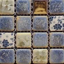 porcelain tile backsplash kitchen for walls blue and white glazed