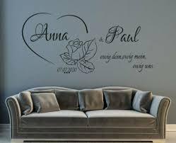 dekoration wandtattoo name wohnzimmer schlafzimmer ewig dein
