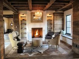 Reclaimed Barn Boards Rustic Living Room