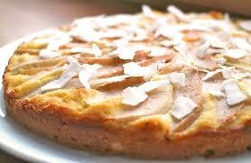 herrlich saftiger low carb kokos birnen kuchen mit einem