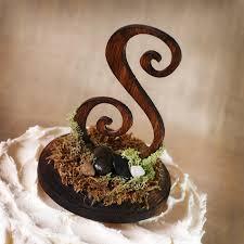 Image Of Rustic Monogram Cake Topper