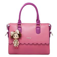 Barbie Girl Early Spring Series Candy Color Handbag Peach Red