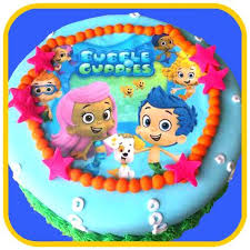 bubble guppies the office cake