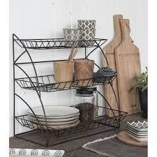 étagère cuisine à poser etagere a poser rangement cuisine metal grillage deco cagne chic