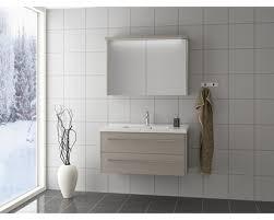 scanbad badmöbel set 100 cm mit spiegelschrank fox vanilla