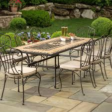 alfresco home loretto 8 person mosaic dining set ultimate patio