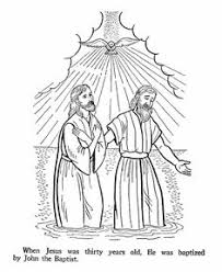 John The Baptist Baptises Jesus Bible Coloring Pages