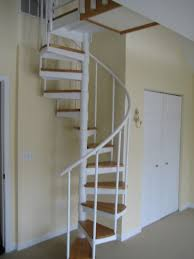 Home Design, Spectacular White Metal Spiral With Wooden Foot ... Awesome Ladder Ideas In Home Design Contemporary Interior Compact Staircase Designs Staircases For Tight Es Of Stairs Inside House Best Small On Simple Fniture Using Straight Wooden And Neat Pating Fold Down Attic Halfway Open Comfy Space Library Bookshelf Images Amazing Step Shelves Curihouseorg Spectacular White Metal Spiral With Foot Modern Pictures Solutions