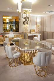 casa padrino luxury designer dining room set ivory gold 1 dining table 6 dining chairs luxury designer dining room furniture hotel furniture