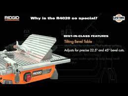 r4020 7 ridgid portable job site wet tile saw youtube