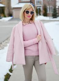 Light & Soft in Wool Wrap Dusty Pink Coat Stripes and Vibes