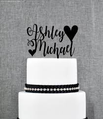 Unique Name Cake Topper Wedding Sign Rustic Calligraphy T375